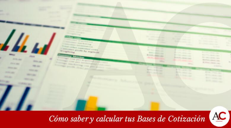 Cómo saber y calcular tus Bases de Cotización